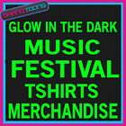 MUSIC FESTIVAL MERCHANDISE GLOW IN THE DARK TSHIRTS X 100 MIXED SIZES
