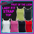 Ladies Womens Strap Top Fruit of the Loom Plain