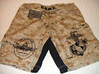 USMC MARINES FORCE RECON  DESERT MARPAT MMA PT  BOARD SHORTS FIGHT SHORTS  S-4XL