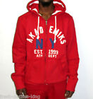 AKADEMIKS Hoodie New Prepster Red Zip Up Fleece Jacket Choose Size