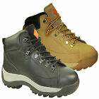 MENS LEATHER SAFETY WORK ANKLE BOOTS SHOES TRAINERS STEEL TOE CAPS RRP £49.99