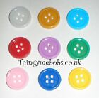 10 x 15mm 4 HOLE SELF ADHESIVE CRAFT BUTTONS/EMBELLISHMENTS - CRAFTS
