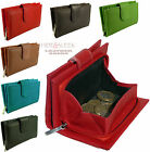 Ladies Soft Leather Coin Purse With Zip Around Coin Tray