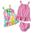 NWT Carters 2-pk Dresses Floral Striped Summer Sleeveless Sz NB 3 6 9 Month Gift