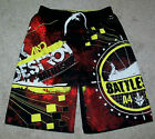 Boys Battleship Mesh Lined Elastic Waist Swim Trunks Shorts XS (4-5) M (8) NWT