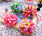 "1×Baby/girl Bouquet Loopy puffs Ribbon 2.5"" Hair ties alligator clips Hair Bows"