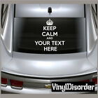 Keep Calm and Your Text Here Vinyl Wall Decal or Car Sticker