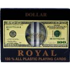 $100 Bill Playing Cards 100% All Plastic Card Double-Deck (2 Decks) With Case