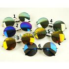 Retro Vintage Round Mirror Lens Sunglasses Shades Sunnies Hippy Penny Golden New