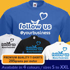 PERSONALISED follow us @ TWITTER custom business name promotional media T-shirt