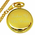 Father Of The Bride Engraved Pocket Watch Personalised Wedding Favour Present