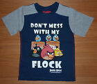 ♥ BNWT BOYS ANGRY BIRDS T-SHIRT 5-6-7-8-9-10 YEARS 'DONT MESS WITH MY FLOCK' ♥