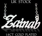 ZAINAB Name Necklace 18k Gold Plated Personalised Fashion Jewelry Gift Arabic