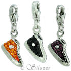 Charm Anhänger Schuh, Sterling Silber 925 | Glitzer Charms Sneaker
