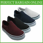 MENS SLIP ON DECK BOAT LOAFERS TRAINERS  PLIMSOLLS SHOE BOYS PUMP SIZE UK 7-12