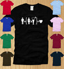 BEER + WOMEN  = LOVE LADIES T-SHIRT LARGE funny drinking college party tee L