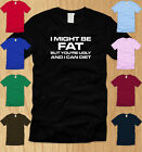 I MIGHT BE FAT BUT YOURE UGLY LADIES SHIRT LARGE funny fitness diet parody L