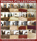 EXTRA LARGE MEDIUM SMALL CREAM BEIGE BROWN RED BLOCK BOX DESIGN VISIONA SOFT RUG