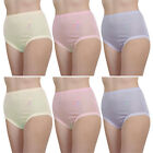 12 Pack Of Womens/Ladies Underwear Full Size Maxi Breifs With Embroidery