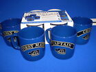 Set of 4 Nautical Mugs Blue Captain etc Muggi Mug Tray
