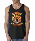 Firefighter Emblem Fire Rescue Heroes 100% Cotton Tank Top
