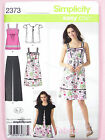 Simplicity 2373 Sewing Pattern Ladies Trousers Dress, Top & Jacket - Easy Chic