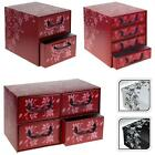 ITALIAN FLORAL CARDBOARD STORAGE BOX DRAWERS CABINET UNIT BEDROOM OFFICE HOME