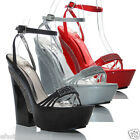 NEW WOMENS LADIES  DIAMANTE HIGH HEEL PARTIES SHOES SANDALS SIZE 3 4 5 6 7 8