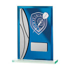 Darts Trophy FREE ENGRAVING Blue Glass Darts Award