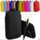 Premium PU Leather Pull Tab Case Cover For Nokia Lumia 520  L Size Pouch