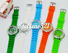 Candy Colour Jelly Soft Silicone Crystal Quartz Analog Sports Wristband Watch