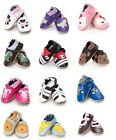 NEW BABY GIRL BOY LEATHER SHOES. PINK, BLUE, WHITE. 12 DESIGNS 4 SIZES  AGE 0-2
