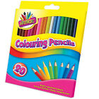 COLOURING 20 PENCILS FULL SIZE COLOURING PENCILS -KIDS/CHILDRENS/ART/CRAFT
