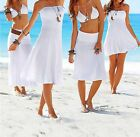 Fashion Sexy Style Bikini Cover-Up Dress Lady Girl Deep-V Swim-Wear Beach-Skirt