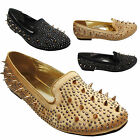 Ladies Flat Shoes Womens Slippers Slip On Loafer Pumps Sexy UK Size 3 4 5 6 7 8