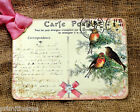 Hang Tags  FRENCH WINTER BIRD POSTCARD CHRISTMAS TAGS or MAGNET #353  Gift Tags