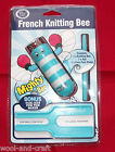 CLASIC KNIT FRENCH KNITTING BEE, AWL & POM POM MAKER BLUE GREEN PINK YELLOW