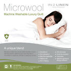 MICRO WOOL Quilt Doona | Microfibre & Wool Blend 300gsm - All seasons