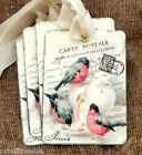 Hang Tags  VINTAGE INSPIRED FRENCH RED BIRD TAGS or MAGNET #377  Gift Tags