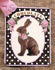 Hang Tags  CHOCOLATE BUNNY POLKA DOT TAGS or MAGNET #511  Gift Tags