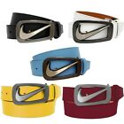 Nike Signature Swoosh Cut Out Golf Belts Multi-Color Options