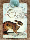 Hang Tags  FRENCH BUNNY  RABBIT TAGS or MAGNET #592  Gift Tags
