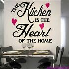 THE KITCHEN IS THE HEART OF THE HOME ----LARGE SIZE----- STICKER  KITCHEN AFC4