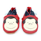 NEW SOFT LEATHER BABY SHOES 0-6, 6-12, 12-18, 18-24 MTHS MONKEY