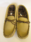 MENS LEATHER/SUEDE MOCCASIN SLIPPERS (VAMP)