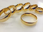 Polished Gold Ion Plated Solid Titanium Wedding Band choose ring size 5 thru 13
