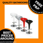 Bombo Style Retro Low Back Gas Lift Kitchen Bar Stools Black Red White Silver