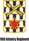U.S. Army 16th Infantry Division Window Wall Vinyl Decal Sticker Military
