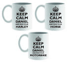PERSONALISED KEEP CALM AND RIDE MUG/COASTER HORSE BIKE SCOOTER FUN MUM DAD GIFT £8.95 GBP on eBay