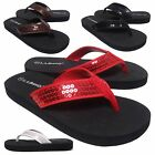 "Внешний вид - NEW Womens Sequin Thong 1"" Low Heel Flip Flop Sandal Shoe 4 Colors Size 6 to 11"